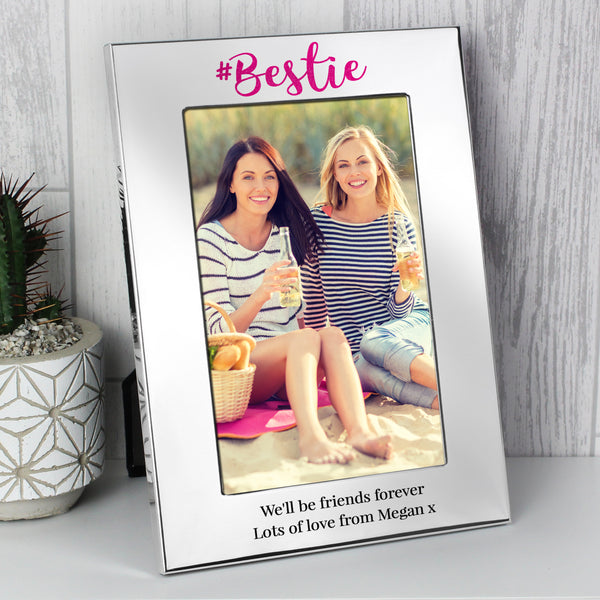 Personalised #Bestie 6x4 Silver Photo Frame