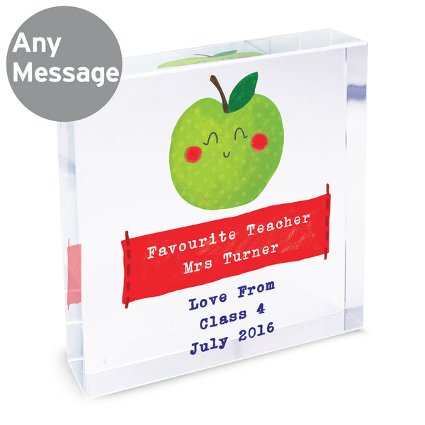 Personalised Apple for the Teacher Large Crystal Token lifestyle image