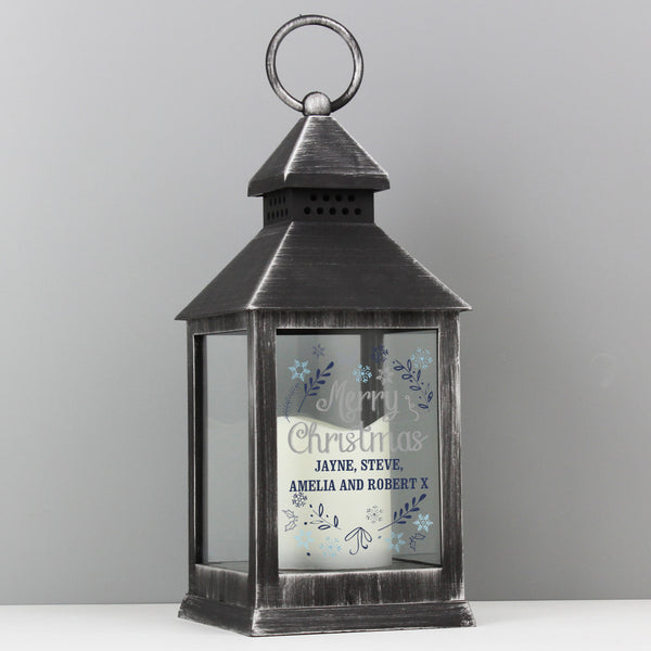 Personalised Christmas Frost Rustic Black Lantern from Sassy Bloom Gifts - alternative view