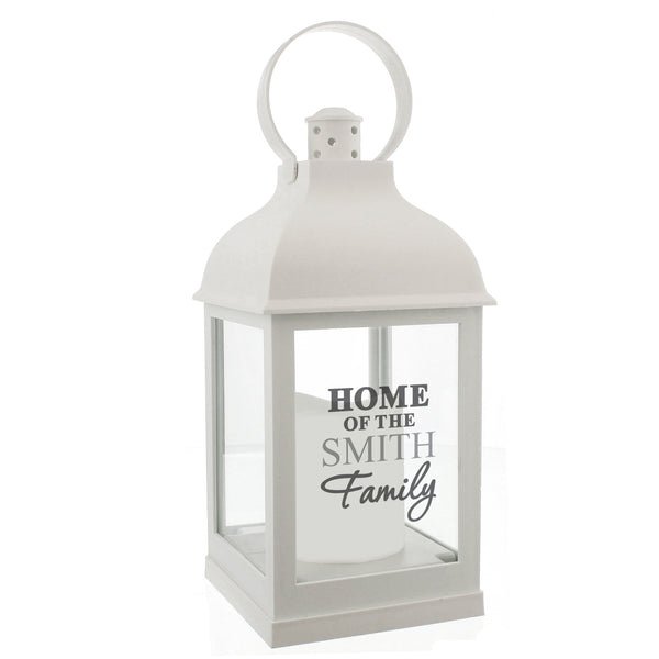 Personalised The Family White Lantern white background