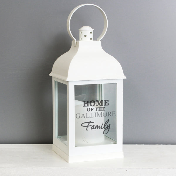 Personalised The Family White Lantern from Sassy Bloom Gifts - alternative view