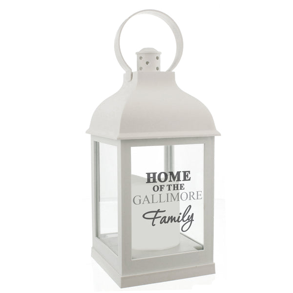 Personalised The Family White Lantern lifestyle image