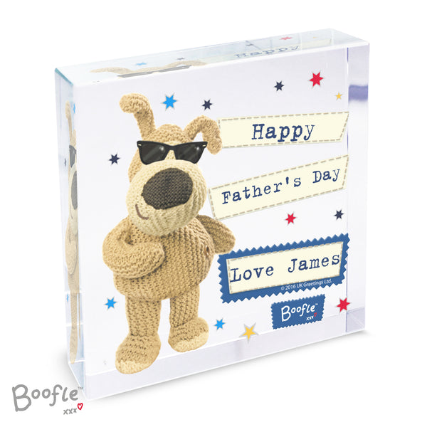 Personalised Boofle Stars Large Crystal Token white background