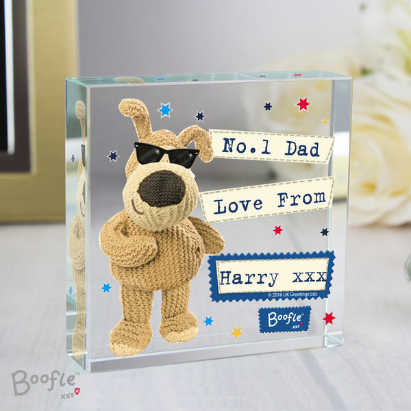 Personalised Boofle Stars Large Crystal Token from Sassy Bloom Gifts - alternative view