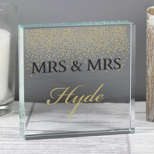 Personalised Gold Confetti Large Crystal Token lifestyle image