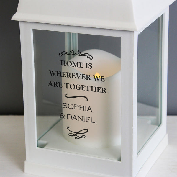Personalised Antique Scroll White Lantern from Sassy Bloom Gifts - alternative view