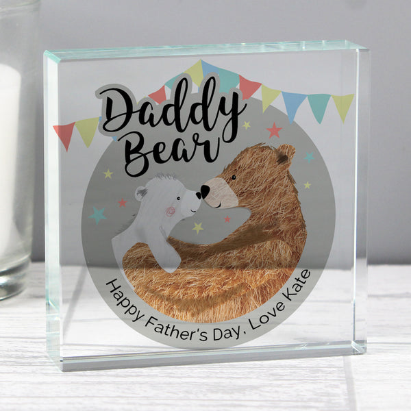 Personalised Daddy Bear Crystal Token from Sassy Bloom Gifts - alternative view