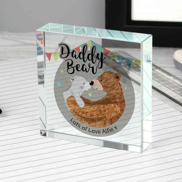 Personalised Daddy Bear Crystal Token lifestyle image