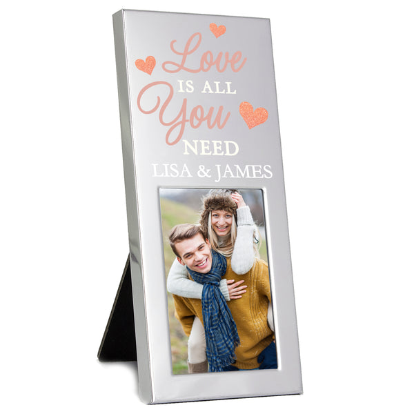 Personalised 'Love is All You Need' 2x3 Photo Frame white background