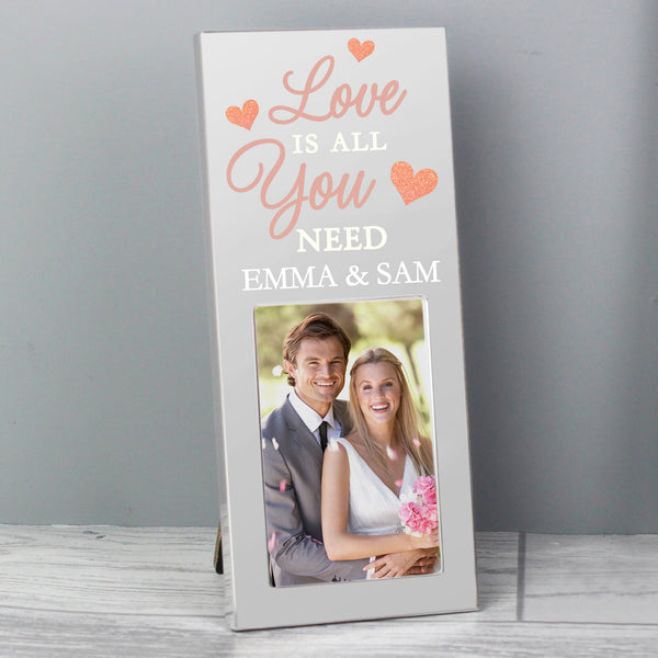 Personalised 'Love is All You Need' 2x3 Photo Frame from Sassy Bloom Gifts - alternative view
