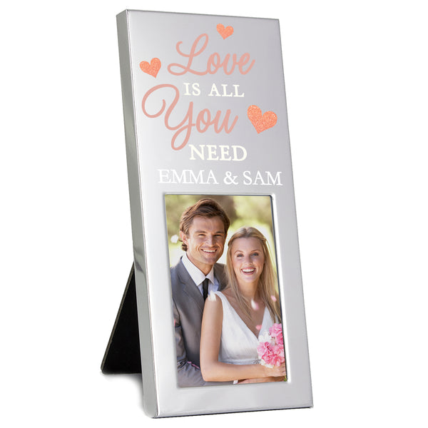 Personalised 'Love is All You Need' 2x3 Photo Frame lifestyle image