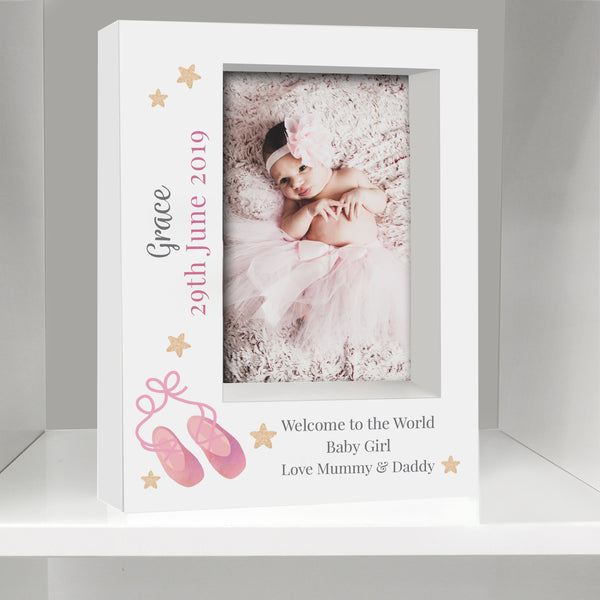 Personalised Swan Lake Ballet 5x7 Box Photo Frame from Sassy Bloom Gifts - alternative view