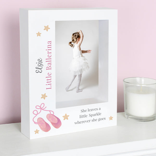Personalised Swan Lake Ballet 5x7 Box Photo Frame with personalised name