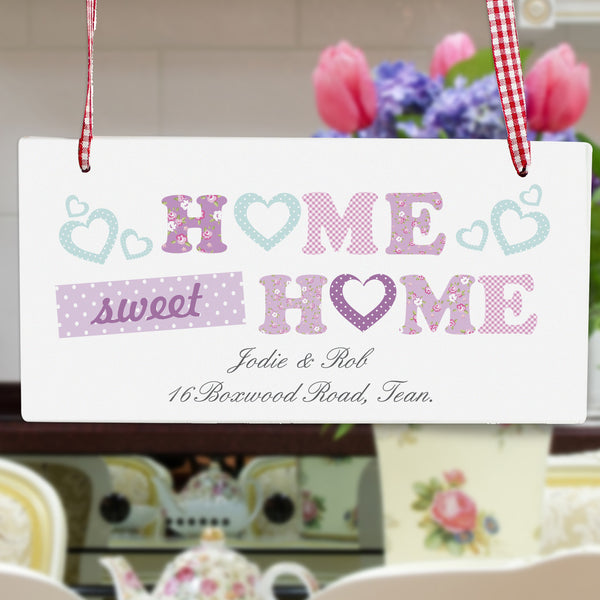 Personalised Floral Design Home Wooden Sign from Sassy Bloom Gifts - alternative view