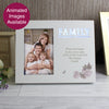 Personalised Family Floral 6x4 Light Up Frame