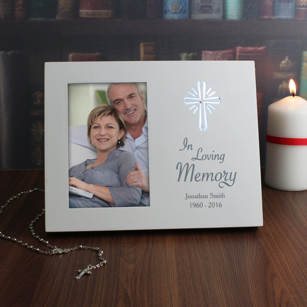 Personalised Cross Loving Memory 6x4 Light Up Frame from Sassy Bloom Gifts - alternative view