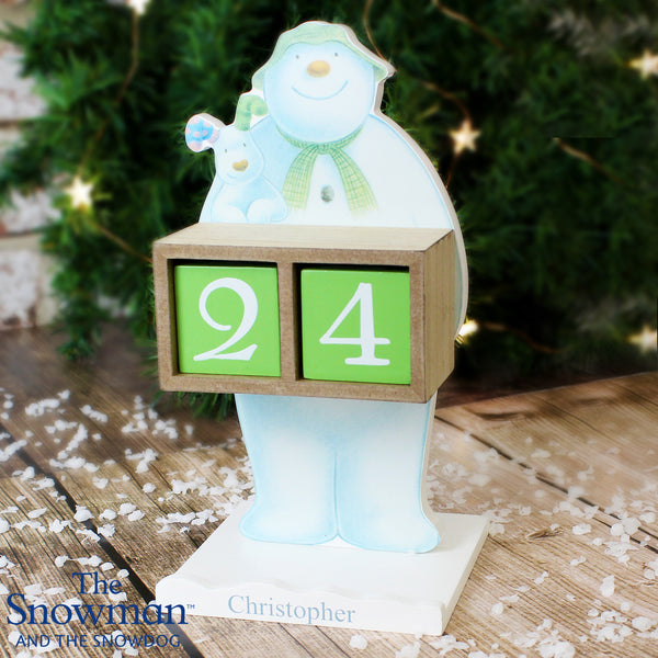 Personalised The Snowman and the Snowdog Perpetual Advent Calendar from Sassy Bloom Gifts - alternative view