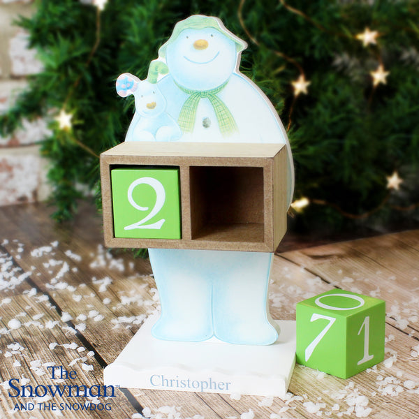 Personalised The Snowman and the Snowdog Perpetual Advent Calendar lifestyle image