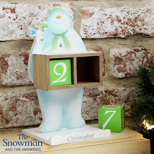Personalised The Snowman and the Snowdog Perpetual Advent Calendar with personalised name