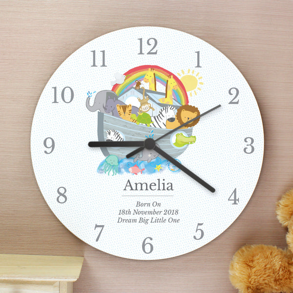 Personalised Noah's Ark Clock from Sassy Bloom Gifts - alternative view