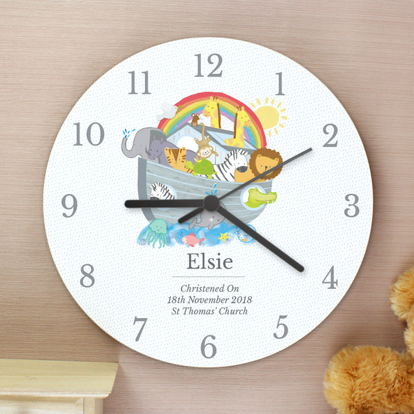 Personalised Noah's Ark Clock lifestyle image