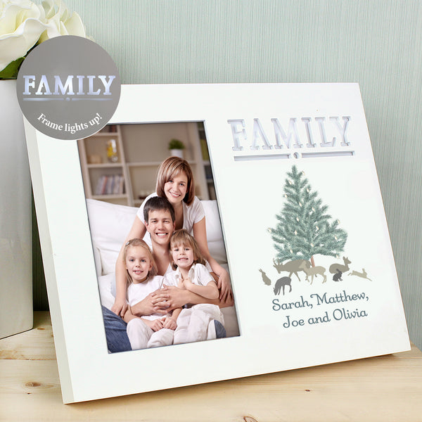 Personalised A Winters Night Family 6x4 Light Up Frame from Sassy Bloom Gifts - alternative view