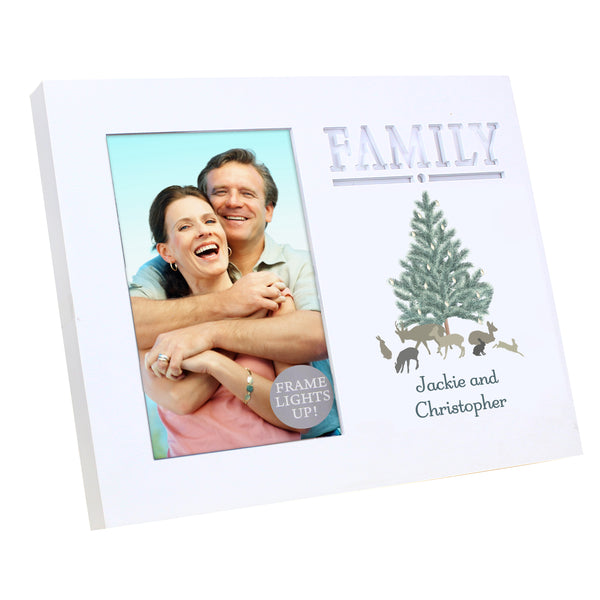 Personalised A Winters Night Family 6x4 Light Up Frame lifestyle image