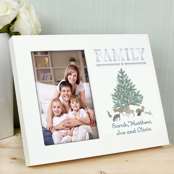 Personalised A Winters Night Family 6x4 Light Up Frame with personalised name