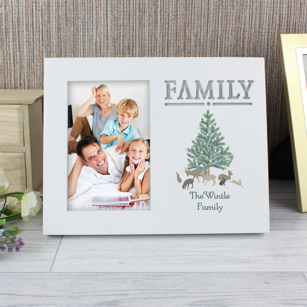 Personalised A Winters Night Family 6x4 Light Up Frame