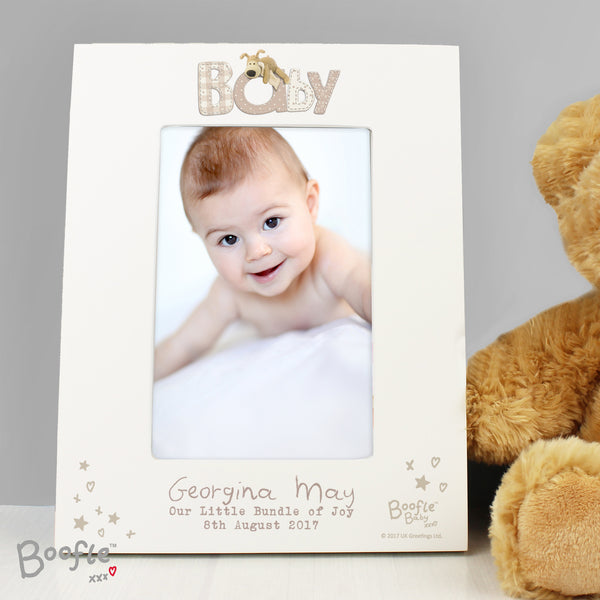 Personalised Boofle Baby 6x4 Photo Frame from Sassy Bloom Gifts - alternative view