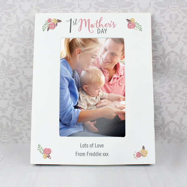 Personalised Floral Bouquet 1st Mothers Day 6x4 Photo Frame from Sassy Bloom Gifts - alternative view