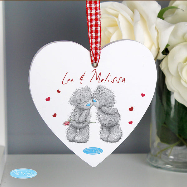 Personalised Me to You Couples Wooden Heart Decoration from Sassy Bloom Gifts - alternative view