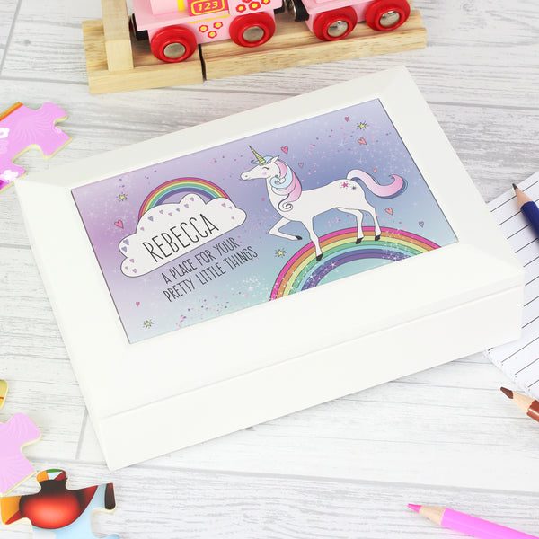 Personalised Unicorn Jewellery Box lifestyle image