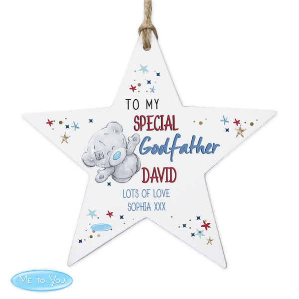 Personalised Me to You Godfather Wooden Star Decoration lifestyle image