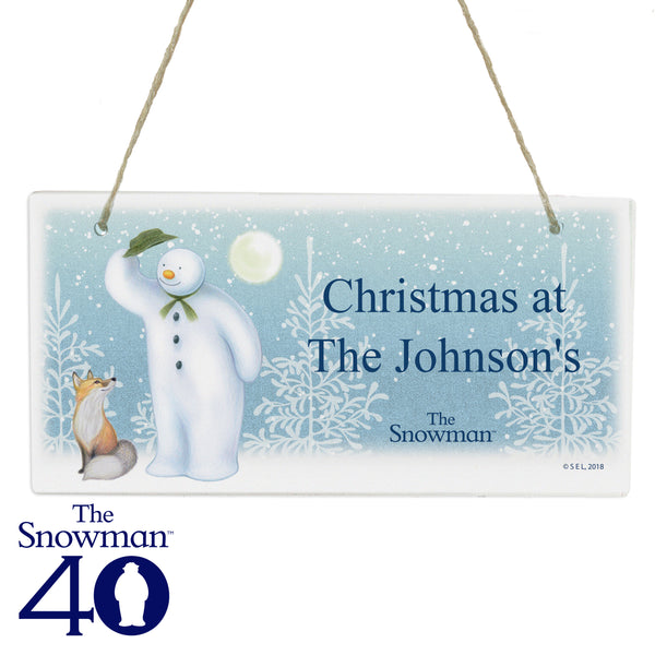 Personalised The Snowman Snow Wonder Wooden Sign white background