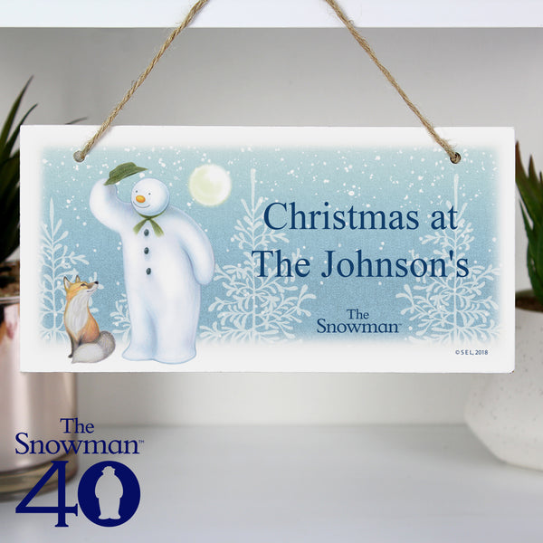Personalised The Snowman Snow Wonder Wooden Sign from Sassy Bloom Gifts - alternative view
