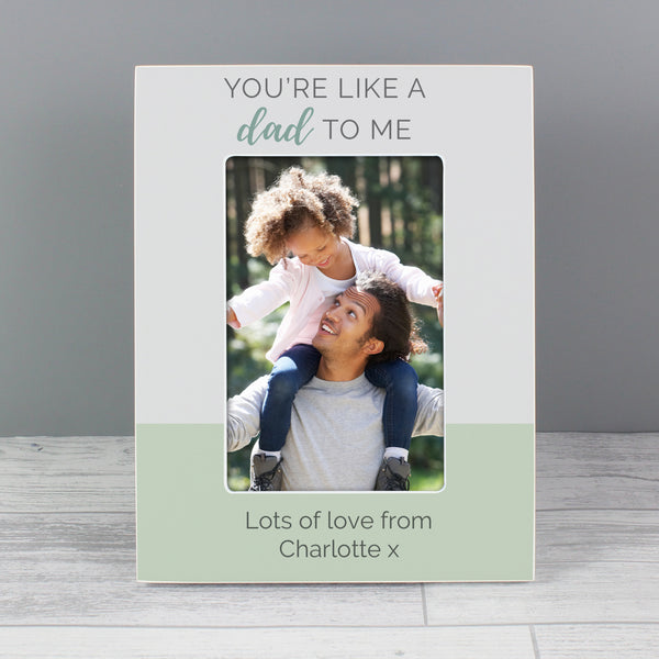 Personalised Youre Like a Dad to Me 6x4 Wooden Photo Frame from Sassy Bloom Gifts - alternative view