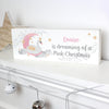 Personalised Swan Lake Wooden Block Sign