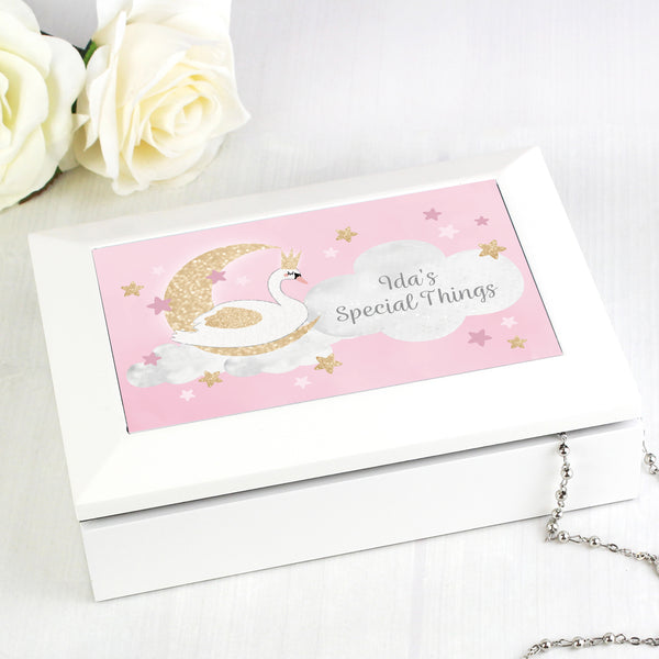 Personalised Swan Lake Jewellery Box from Sassy Bloom Gifts - alternative view