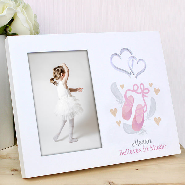Personalised Swan Lake Ballet 6x4 Light Up Frame lifestyle image