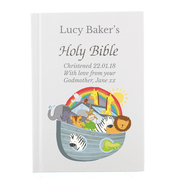 Personalised Noah's Ark Bible white background