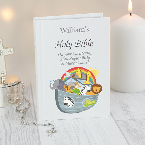 Personalised Noah's Ark Bible with personalised name