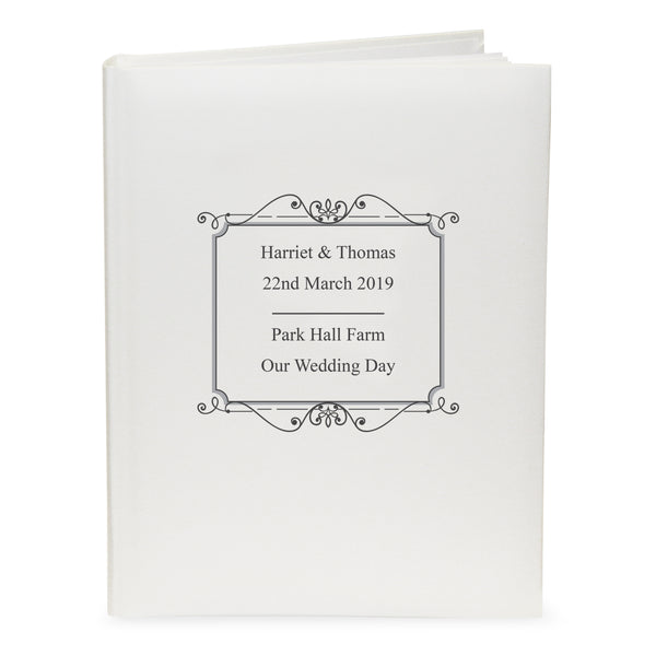 Personalised Silver Traditional Album white background