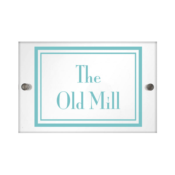 Personalised Art Deco Acrylic House Sign white background