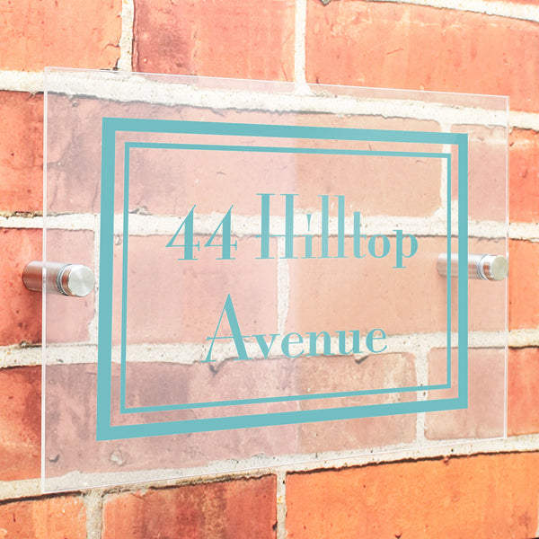 Personalised Art Deco Acrylic House Sign from Sassy Bloom Gifts - alternative view