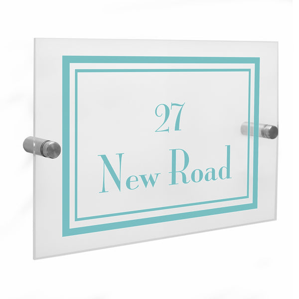 Personalised Art Deco Acrylic House Sign lifestyle image