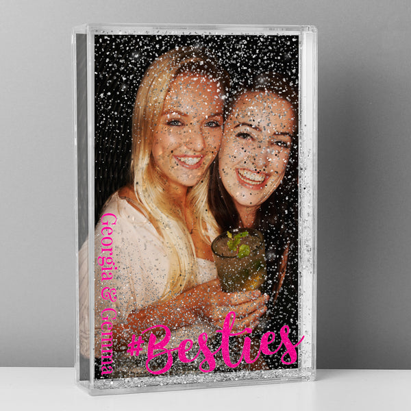 Personalised #Besties 6x4 Glitter Shaker Photo Frame from Sassy Bloom Gifts - alternative view