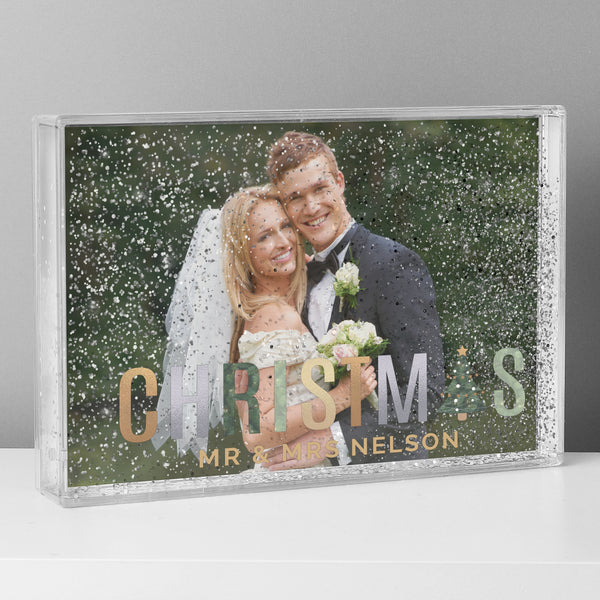 Personalised Christmas 6x4 Glitter Shaker Photo Frame from Sassy Bloom Gifts - alternative view
