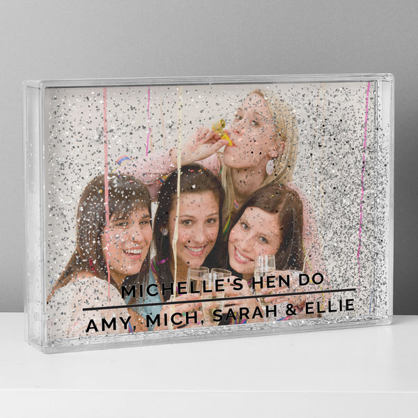 Personalised Classic 4x6 Glitter Shaker Photo Frame lifestyle image