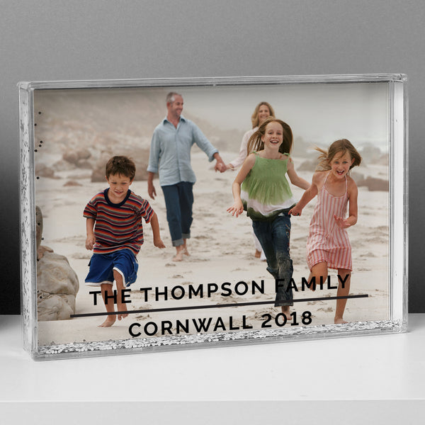 Personalised Classic 4x6 Glitter Shaker Photo Frame with personalised name